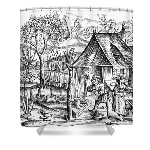 France Bread Making, 1517 Shower Curtain