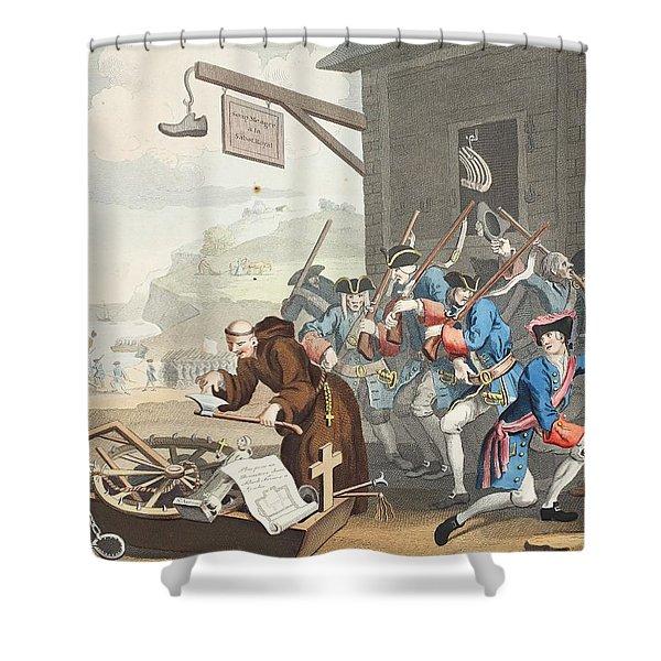 France, Illustration From Hogarth Shower Curtain