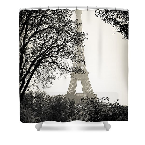 The Eiffel Tower Paris France Shower Curtain
