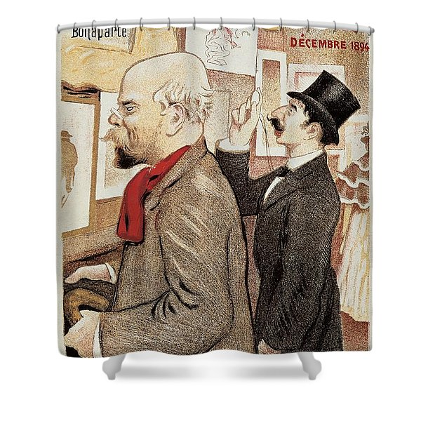 France Paris Poster Of Paul Verlaine And Jean Moreas Shower Curtain