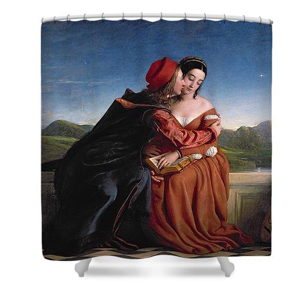 Francesca Da Rimini, Exh. 1837 Oil On Canvas Shower Curtain