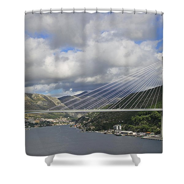 Franjo Tudman Bridge Shower Curtain