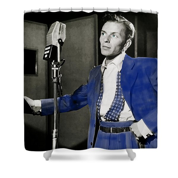 Frank Sinatra - Old Blue Eyes Shower Curtain