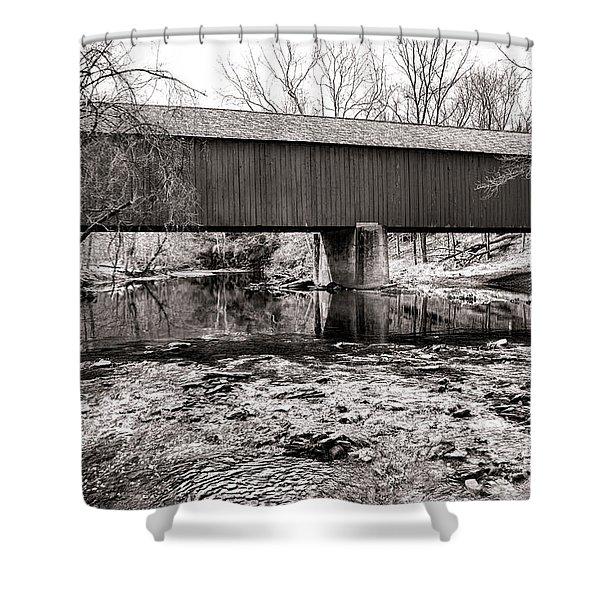 Frankenfield Bridge Over The Tinicum Creek Shower Curtain