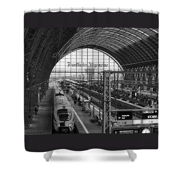 Frankfurt Bahnhof - Train Station Shower Curtain