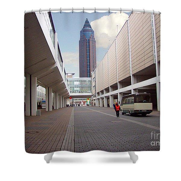 Frankfurter Messe Turm Shower Curtain