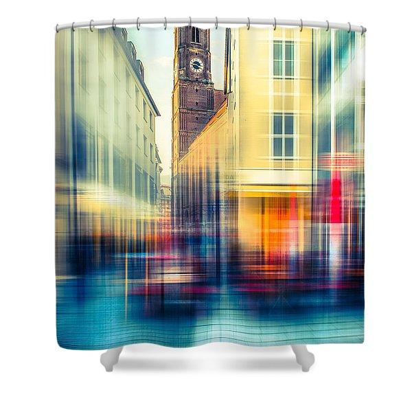 Frauenkirche - Munich V - Vintage Shower Curtain