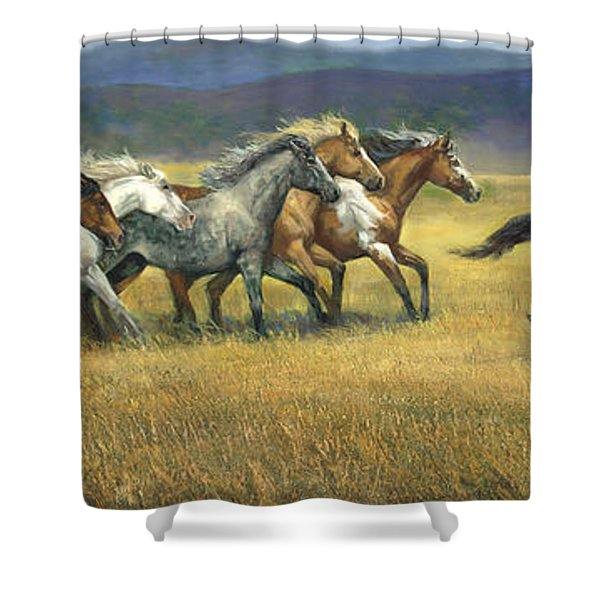 Free And Wild Shower Curtain