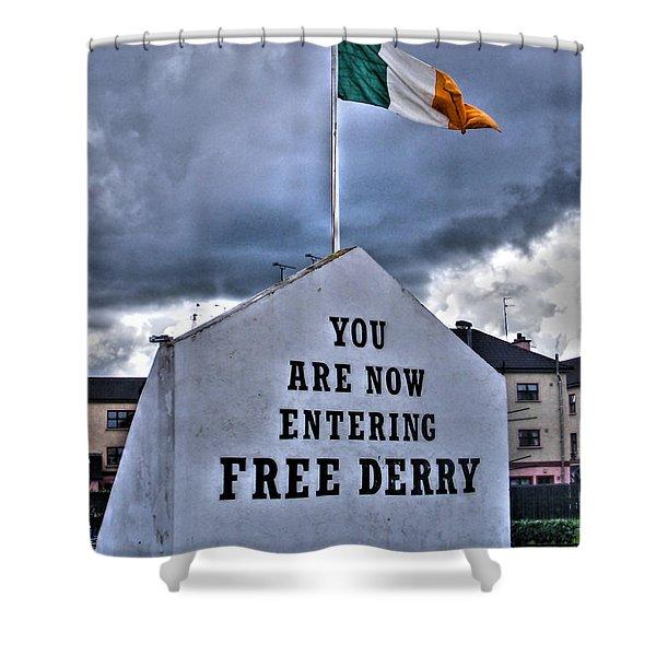 Free Derry Wall Shower Curtain