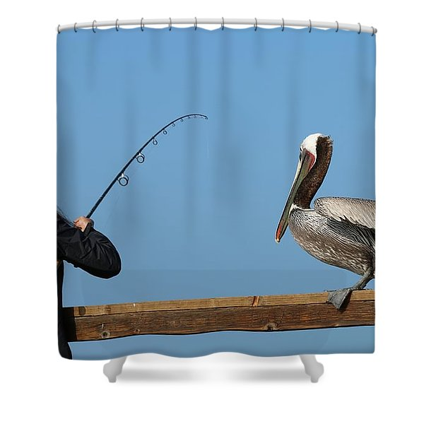 Free Dinner  Shower Curtain
