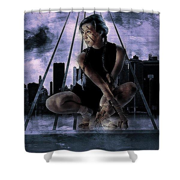 Freerunning Nyc Shower Curtain