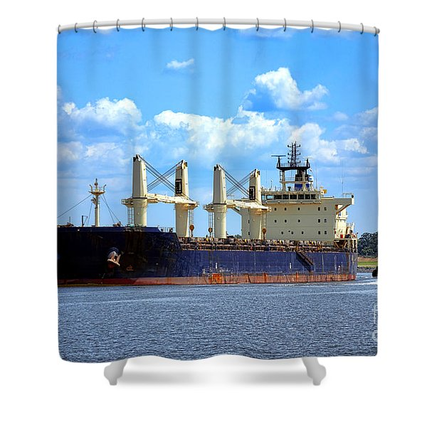 Freight Hauler Shower Curtain