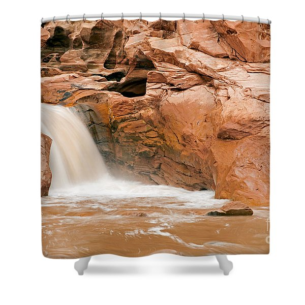 Fremont River Falls Capitol Reef National Park Shower Curtain