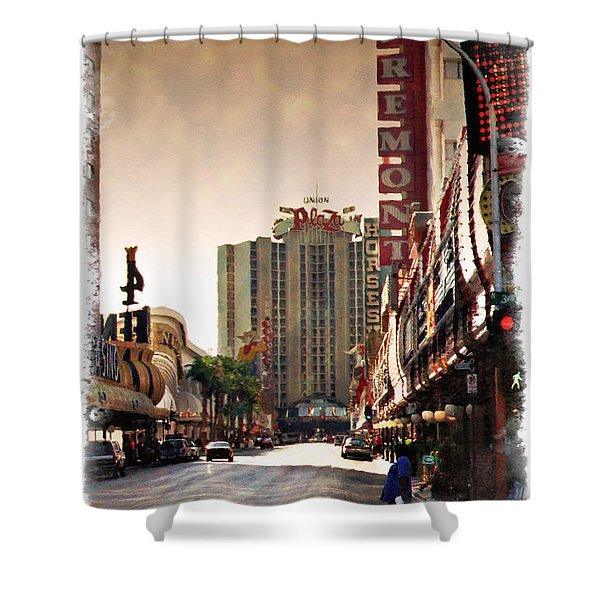 Fremont Street 1994 - Impressions Shower Curtain