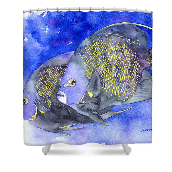 French Angelfish Shower Curtain