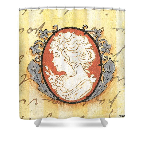 French Cameo 2 Shower Curtain