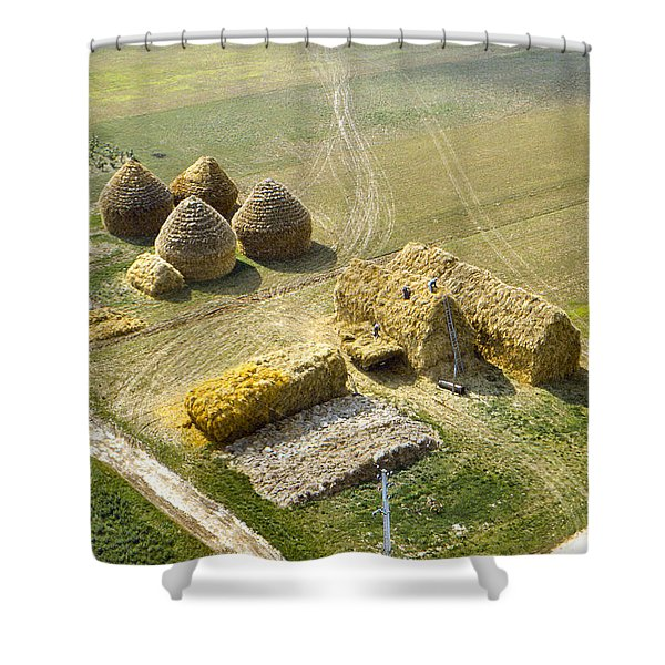 French Haystacks Shower Curtain