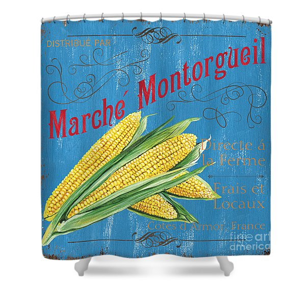 French Market Sign 2 Shower Curtain