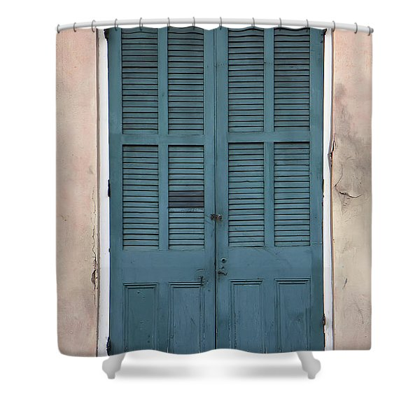 French Quarter Doors Shower Curtain