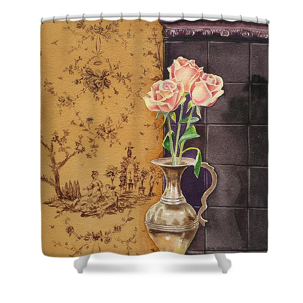 French Roses Shower Curtain