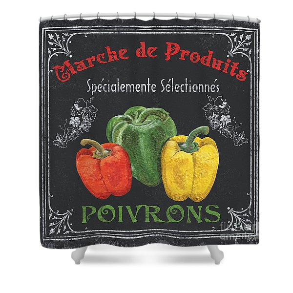 French Vegetables 3 Shower Curtain