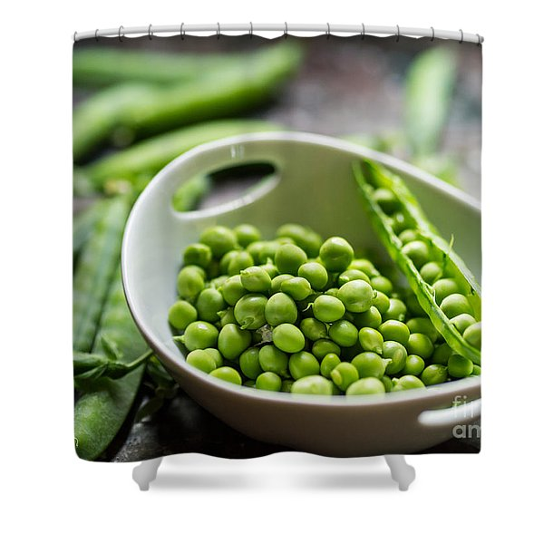 Fresh Garden Peapods Shower Curtain