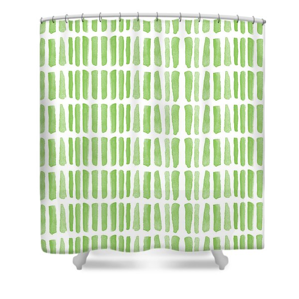 Fresh Grass- Abstract Pattern Painting Shower Curtain