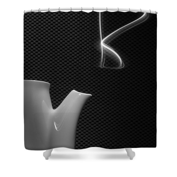 Fresh Pot Of Coffee- Light Painting Shower Curtain