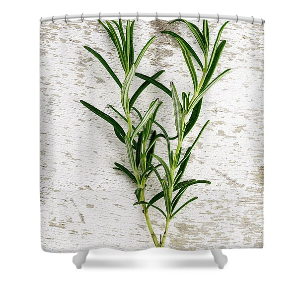 Fresh Rosemary Shower Curtain