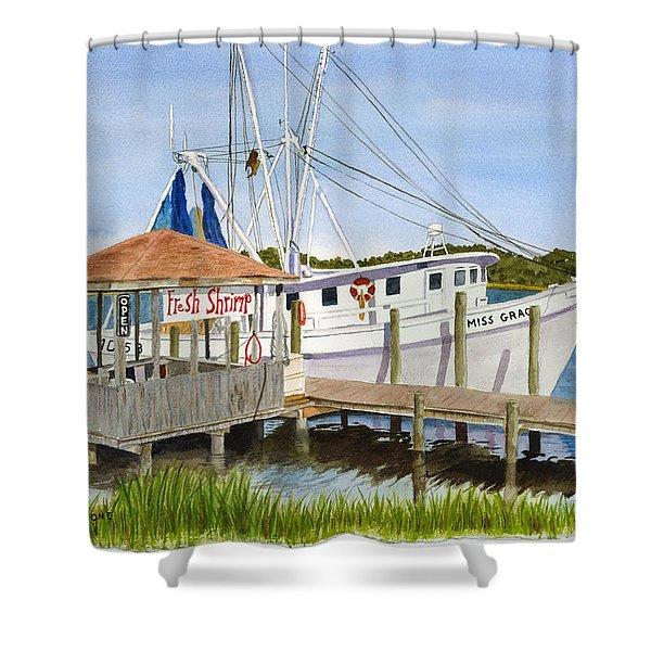 Fresh Shrimp  Shower Curtain