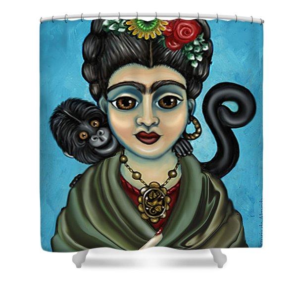 Frida's Monkey Shower Curtain