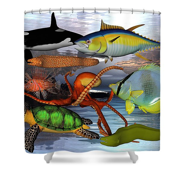 Friends Of The Sea Shower Curtain