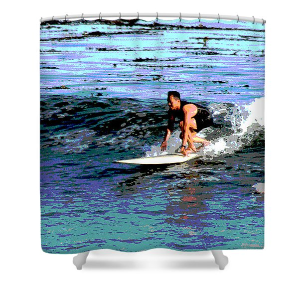 Friends Sharing A Wave Shower Curtain