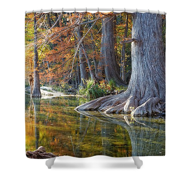 Frio River Morning Shower Curtain