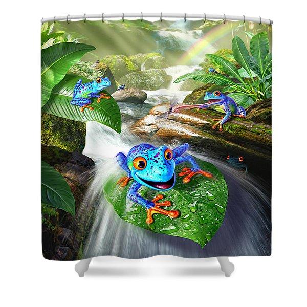 Frog Capades Shower Curtain