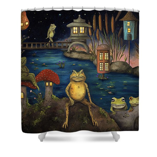 Frogland Shower Curtain