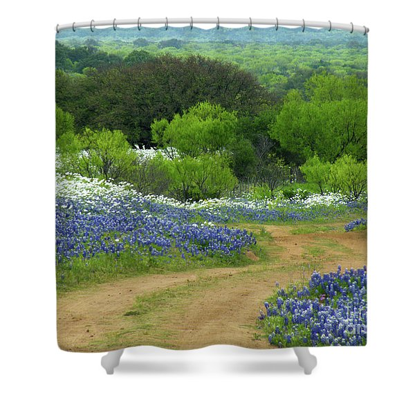 From Here To There Shower Curtain