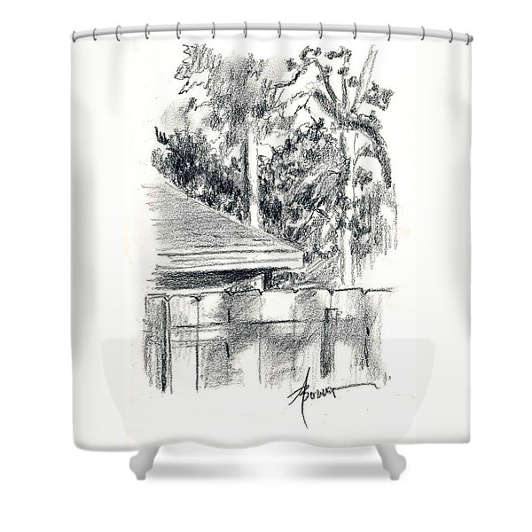 From The Breakfast Room Window Shower Curtain