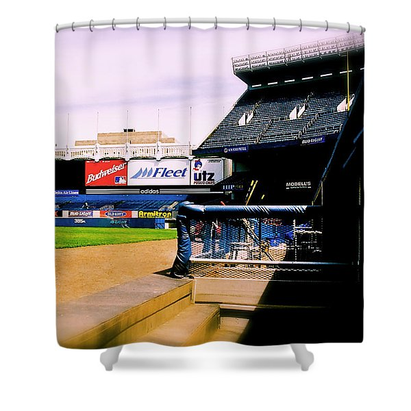 From The Dugout  The Yankee Stadium Shower Curtain