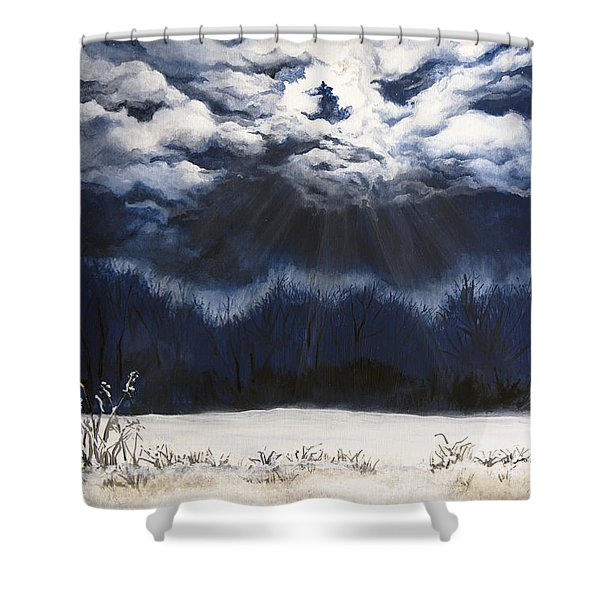 From The Midnight Sky Shower Curtain
