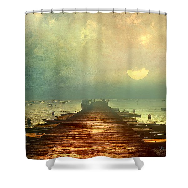 From The Moon To The Mist Shower Curtain