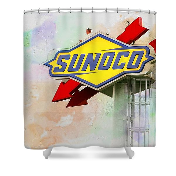 From The Sunoco Roost Shower Curtain
