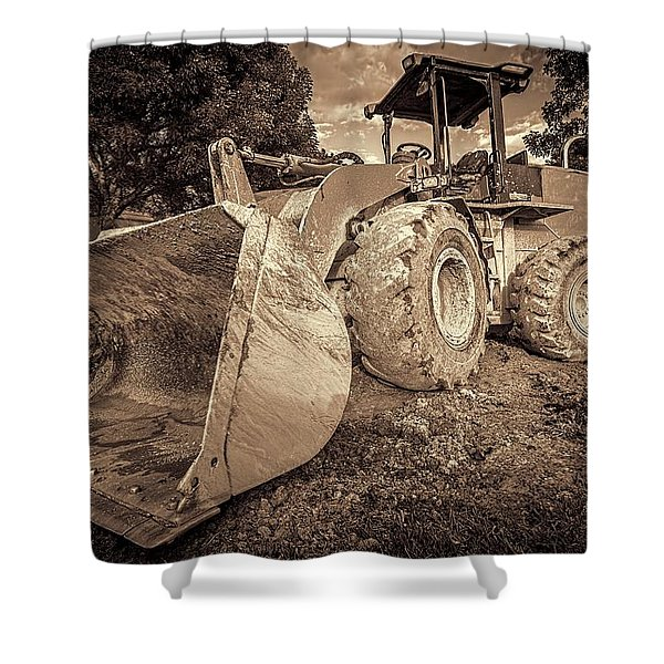 Front Loader-1 Shower Curtain