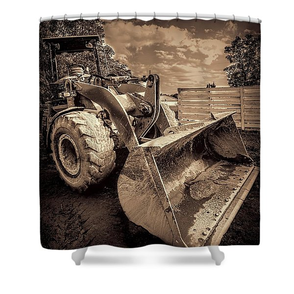 Front Loader-3 Shower Curtain