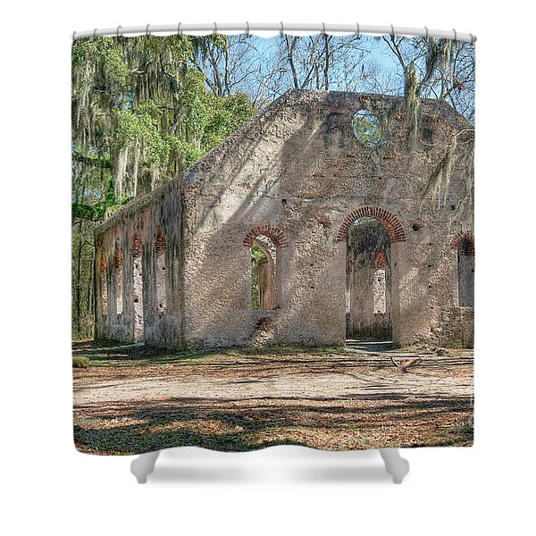 Front View Of The Chapel Of Ease Shower Curtain