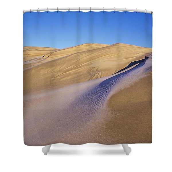 Frost Accents The Sand Dunes In Oregon Shower Curtain