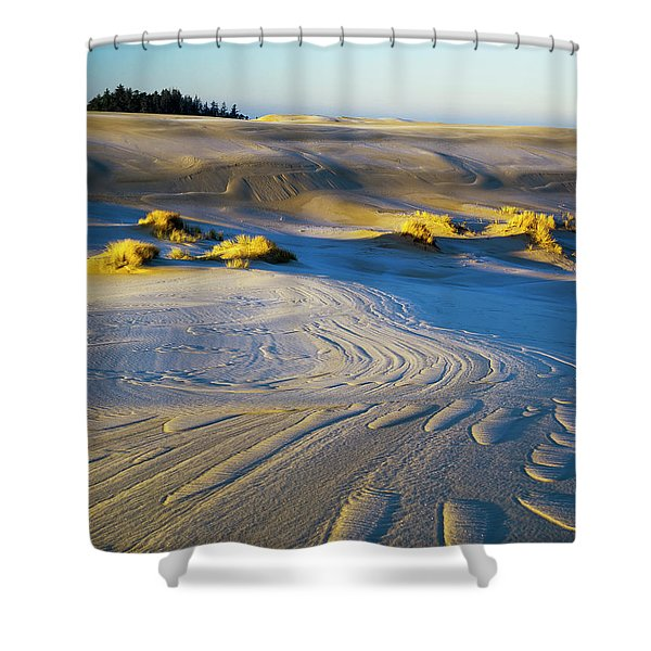 Frost Turns The Sand White Shower Curtain