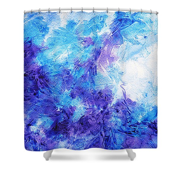 Frosted Window Abstract Iv Shower Curtain