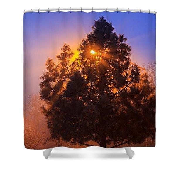 Frosty Sunrise 2 Shower Curtain