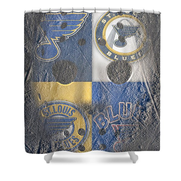 Frozen Blues Shower Curtain